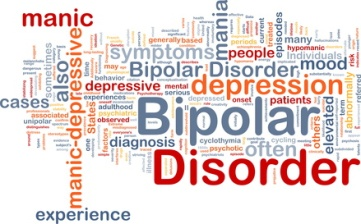 Background concept wordcloud illustration of bipolar disorder