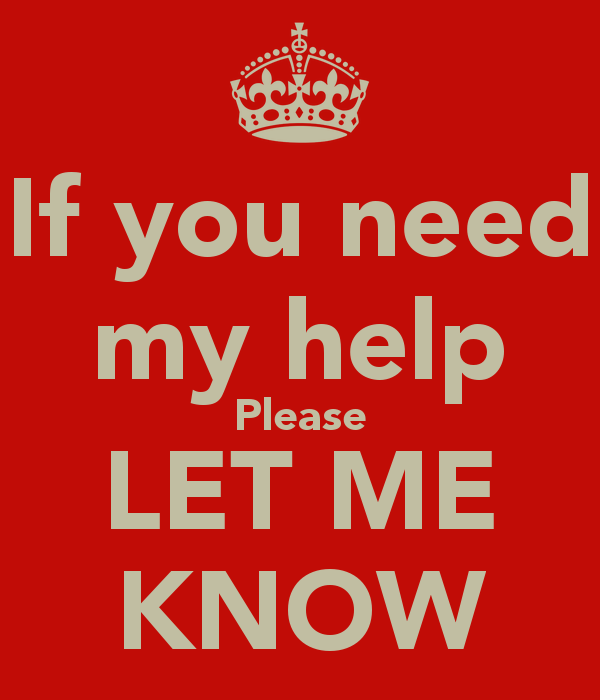 if you need help blog
