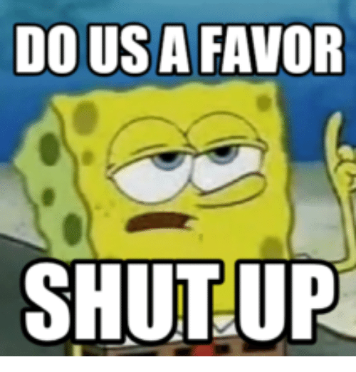 blog shut up spongebob pic